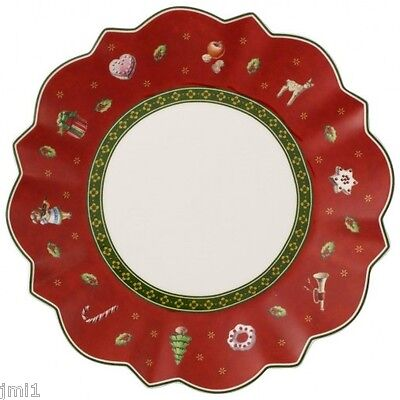 Villeroy & Boch TOY'S DELIGHT Red Bread Plate