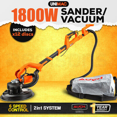 NEW UNIMAC 1800W Drywall Sander with Automatic Vacuum System Plaster Gyprock