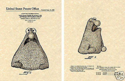 WONTKINS US Patent Art Print READY TO FRAME!! 1959 Henson Muppet Wilkins Coffee