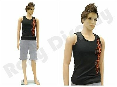 Male Unbreakable Plastic Mannequin Dress form display  Rob + Free Wig