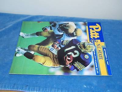 1987 Pitt N.c. State Carolina Football Program Pittsburgh University Sports
