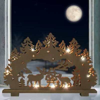 lichterbogen krippe schwibbogen weihnachtsdeko fensterdeko weihnachten holz led eur 8 95. Black Bedroom Furniture Sets. Home Design Ideas