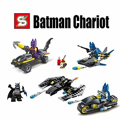 The Avengers Super Heros Batman With Chariot Car Minifigures 4 sets 203 all new.