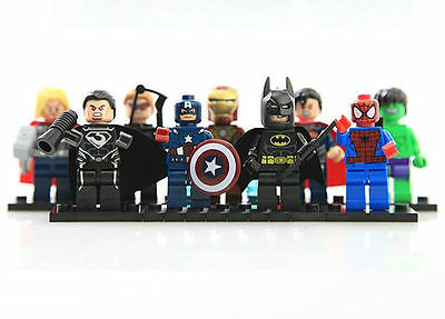 New 9 Sets Minifigures Super Heroes Series Blocks Toy Avengers Kids Souptoys #S5