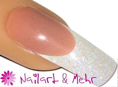 """#015 FLITTER-Acryl-Pulver 3,5g """"PEARLY SHIMMER WHITE"""" #5921"""