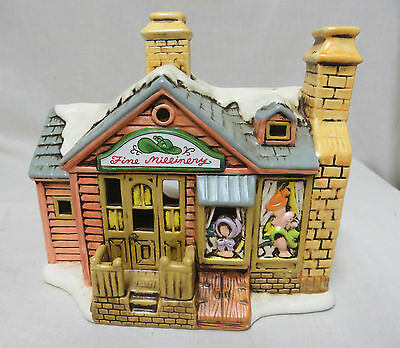 Capper's Fine Millinery Lefton Colonial Village Christmas Lighted Byron Wood