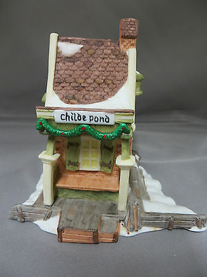 Childe Pond Dickens' Village Series Christmas Holiday Town Display Collectible