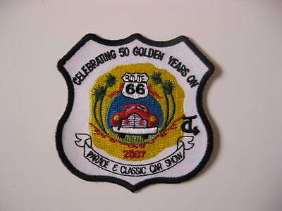 Route 66 Collectible Celebrating 50 Years 2007 Car Show Patch