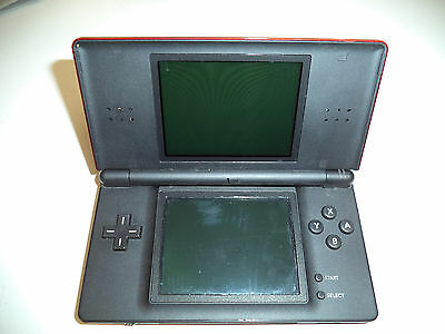 AS-IS Nintendo DS Lite System - Crimson Red/Blk - DOESN'T CHARGE-LIGHT GOES OFF
