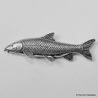 Barbel Catfish Pewter Pin Brooch - British Handcrafted- Coarse Fishing Angling