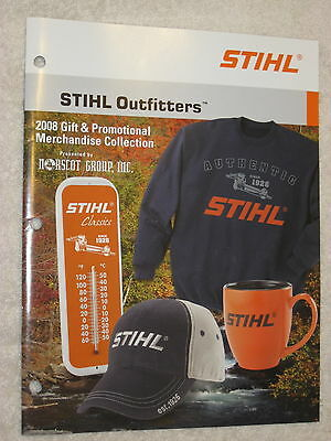 2008 Stihl Outfitters Promotional Merchandice Catalog
