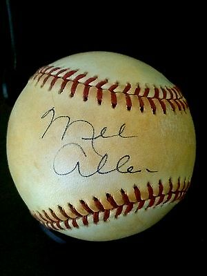 Mel Allen autographed baseball, with Certificate of Authenticity