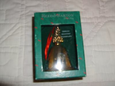 new NIB Reed & Barton silverplated Christmas bell--NOEL on bell -candle-top