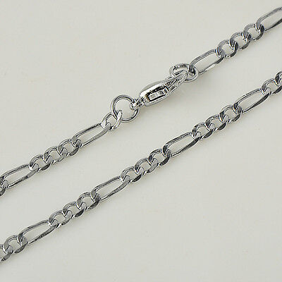 Hot sell Womens White Gold Filled 44cm llink Necklace A3856