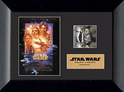 Film Cell Genuine 35mm Framed & Matted Star Wars Episode IV A New Hope USFC2404