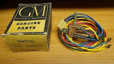 NOS GM 1960 Chevrolet Impala 1960-1963 Series 10-30 Truck A/C Blower Switch