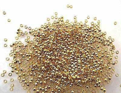 400 gold color crimp bead crimps fit .38 & .45 & .5mm beading wire & tiger tail