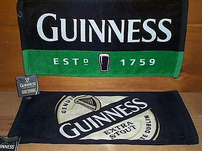 GUINNESS EXTRA STOUT 2 WOVEN BEER BAR GOLF TOWEL NEW