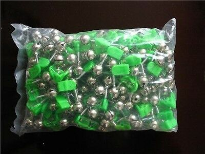 100pcs Fishing Bells / Clip with Glow Stick Holder ,Fishing Tackle Special