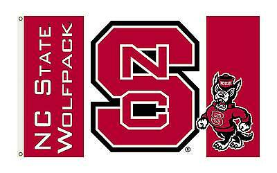 NC State Wolfpack Flag One Sided NCAA 3' x 5' Licensed North Carolina