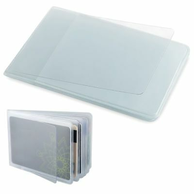 Plastic PVC Clear Pouch Name ID Credit Card Holder Organizer Keeper Case Pocket