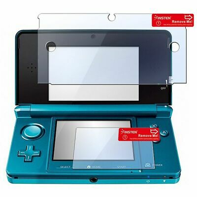 2in1 Clear LCD Screen Protector Cover for Nintendo 3DS New