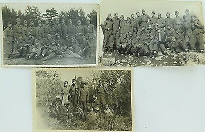 RARE 1950s YUGOSLAVIA Montenegrin REAL PHOTO POSTCARDS NAMES OF SOLDIERS