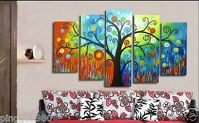 TOP ART 5P Large Abstract Tree 100% handpaint ART OIL Painting (no frame)P149