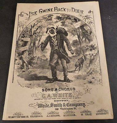 Minstrel Music - I'se Gwine Back to Dixie - 1874