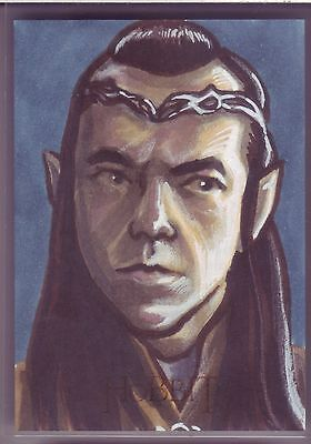 Crytozoic The Hobbit An Unexpected Journey Elrond Color Sketch Card Popplewell