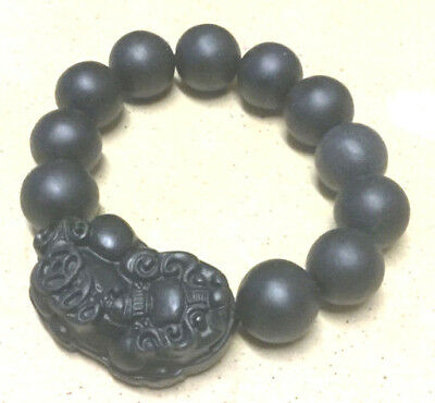 BIAN Stone 'Chi' Energy Stone Carved  PIXIU power Band stretch Bracelet