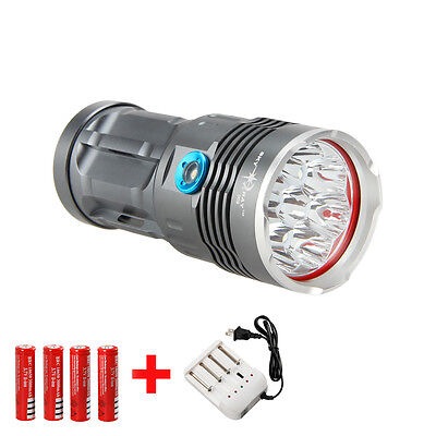 Rechargeable SKYRAY 12000Lm 8x CREE XM-L T6 LED Flashlight Torch Tactical 18650