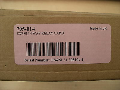 £96 Morley IAS 4-way programmable relay card 795-014