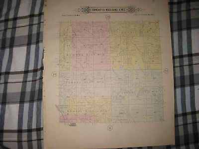 Antique 1904 Lee's Summit Jackson County Missouri Handcolored Map Township Areas
