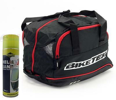 Crash Helmet Bag Holdall, Bmx, Motocross, Mx, Enduro, 4X, Downhill + Sanitizer