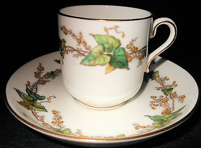 Minton Lothian Ivy Pattern Demitasse Cup and Saucer, Perfect!