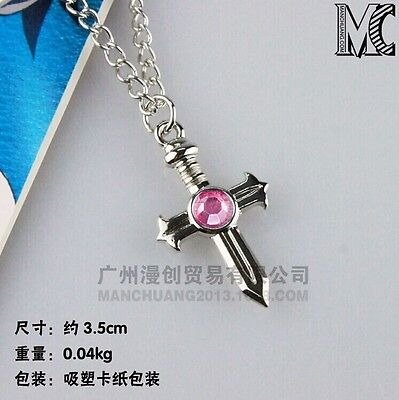 Anime Fairy Tail Gray Fullbuster Cross Necklace Pendant Cosplay Toy Gift 2