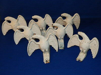 Set 7 Architectural Cast Iron Ice Eagles Antique Batch!