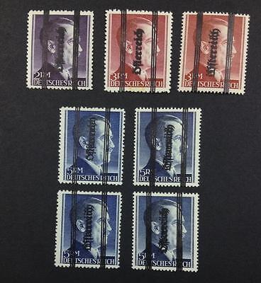 MOMEN: AUSTRIA Osterreich STAMPS DOUBLE OVPT MINT OG NH $ LOT #5556