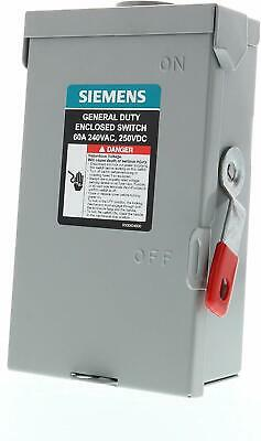 SIEMENS GNF322R 60A 240V 3P 3-Wire Non-Fusible General Duty Safety Switch, NM-3R