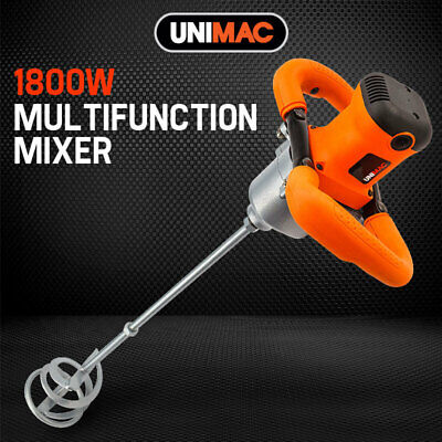 NEW UNIMAC 1800W Drywall Mortar Mixer Plaster Cement Render Paint Tile Adhesive