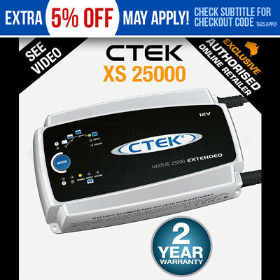 NEW CTEK XS 25000 25A BATTERY CHARGER 12V 12 VOLT XS 25000 25AMP AGM Caravan