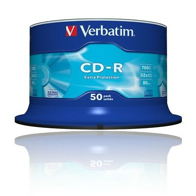 Verbatim Extra Protection 52x CD-R Rohlinge 700MB 50er-Spindel 80Min / 43351