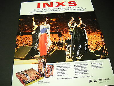 INXS ..one of the last great R&R bands... 1991 PROMO POSTER AD mint condition