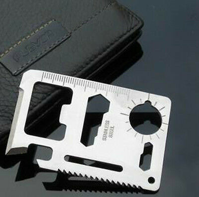 Hot 1pcs 11 in 1 Multi Credit Card Outdoor Survival Knife Camping Tool with 9UCD