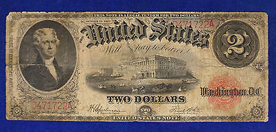 Stati Uniti United States America 2 Dollars 1917 Large Size Currency #B540