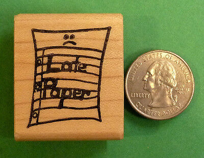Purrfect Paper wood mounted teacher/'s rubber stamp