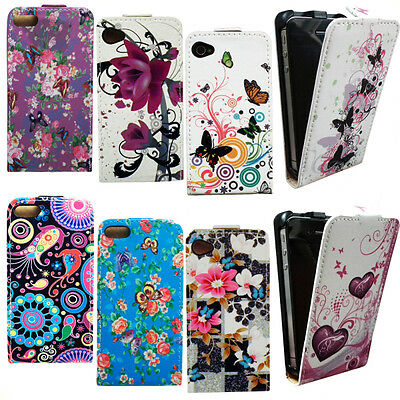 Watercolor Flip Leather PU Wallet Case Cover For Apple iPhone 4 4S 4G