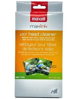 Maxell 290058 VP-100 VHS Dry Tape Video Head Cleaner