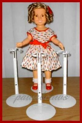 "3 KAISER Doll Stands for 15"" - 16"" 17"" Shirley Temple"